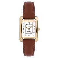 Coach Page ladies' brown leather strap watch £150