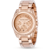 Michael Kors ladies' rose gold-plated bracelet watch £229