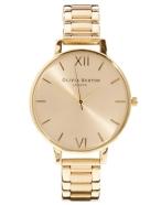 olivia burton big dial gold bracelet watch £95