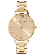 olivia burton big dial gold bracelet watch £95