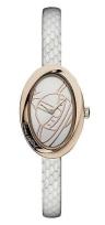 Vivienne Westwood ladies' white leather strap watch was £195 now £97