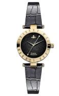 Vivienne Westwood Westbourne black leather strap watch £190