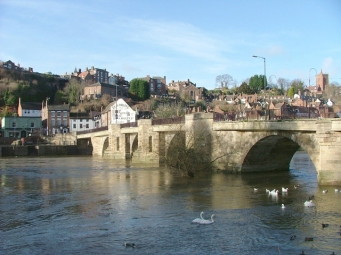 Bridgnorth - the bridge in winter - south side
