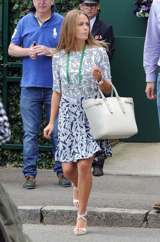 Kim-Sears-seen-arriving-at-wimbledon-tennis